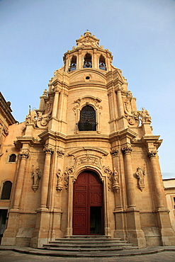 Italy, Sicily, Ragusa Ibla, San Giuseppe church.