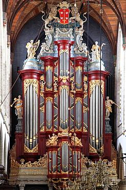 Netherlands, Haarlem, St Bavo Church, organ.