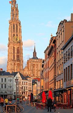 Belgium, Antwerp, Cathedral, Suikerrui.
