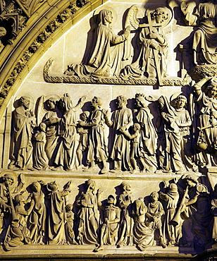 Belgium, Antwerp, Cathedral, detail, relief.
