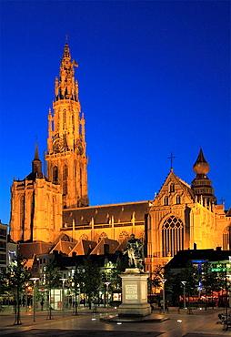 Belgium, Antwerp, Cathedral, Groenplaats.