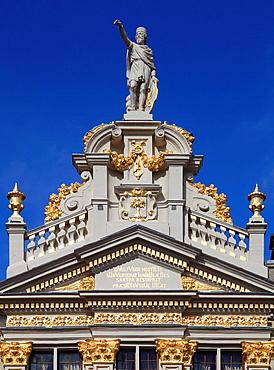 Belgium; Brussels; Grand Place, historic architecture.