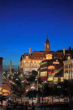 Canada, Quebec, Montreal, Place Jacques-Cartier, City Hall,.