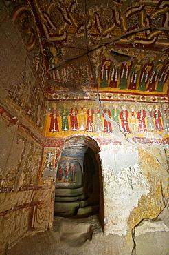 Frescoes in Yilanli Church, ninth century, Church of the Snake, Ihlara Valley, Cappadocia, Central Anatolia, Turkey.