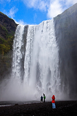 Skogafoss Waterfall, Golden Triangle, South Iceland, Polar Regions.