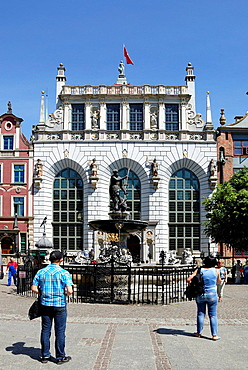 Artus Court with Neptune fountain at the Long Market in Gdansk