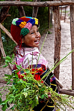Peruvian people on the sacred valley in peru.