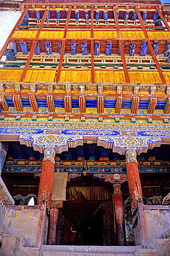 Buddhist monastery in the Indus valley, Ladakh, Jammu and Kashmir state, India