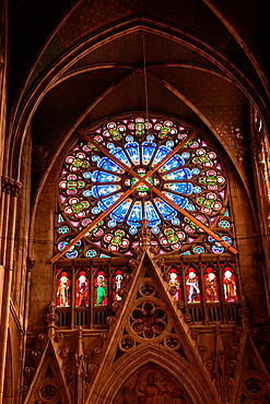 Rose window, Basilica of St. Epvre, Nancy, France
