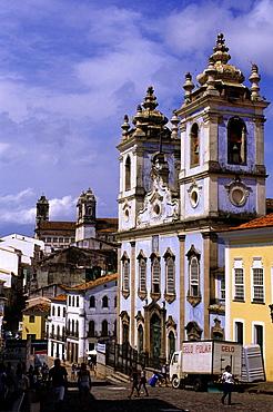 Brazil, Salvador De Bahia, Pelourinho Distict, Colonial Arch., Rosario Dos Pretos Church.