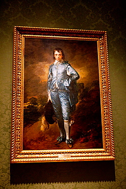 The Blue Boy painting by Thomas Gainsborough (ca 1770), The Huntington Library, Art Collection, and Botanical Gardens San Marino, California, United States of America.