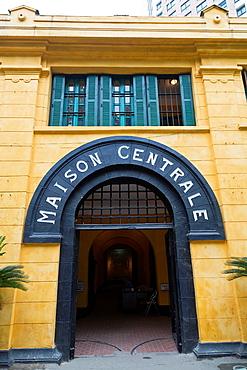Entrance to the Hoa Lo Prison, aka Hanoi Hilton, in Hanoi, Vietnam.