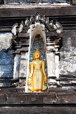 Sculpture in the Temple Wat Hosian Vorivihane in Luang Prabang, Laos