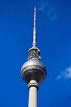 The Televison Tower on Alexanderplatz in Berlin, Germany