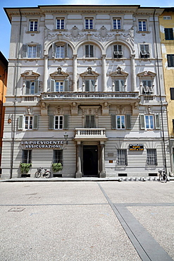 Exterior Facade in Lucca in Tuscany, Italy.