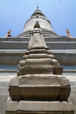 Stupa of the Temple Wat Phnom in Phnom Penh, Cambodia.