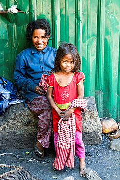 Mother with Child in Phnom Penh, Cambodia.