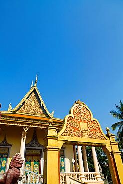 The Temple Wat Sarawan in Phnom Penh, Cambodia.