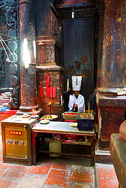 In the Jade Emperor Pagoda in Ho Chi Minh City, Vietnam.