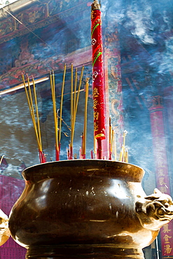 Incense Sticks in the Temple Thien Hau in Ho Chi Minh City, Vietnam.