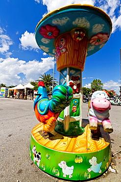 Colorful Toys in Viareggio in Tuscany, Italy.