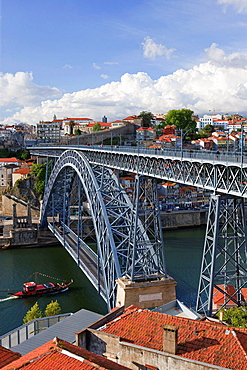 Ponte Dom Luis1 Bridge over Rio Douro Ribeira Porto Portugal.