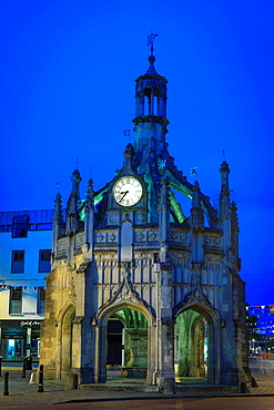 Market Cross Chichester West Sussex England at twilight.