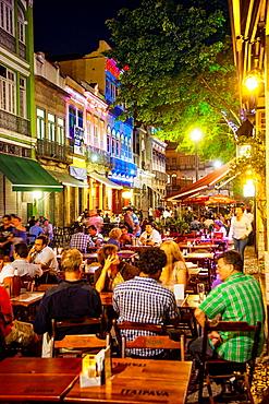 Night life in Lapa district, Rio de Janeiro, Brazil