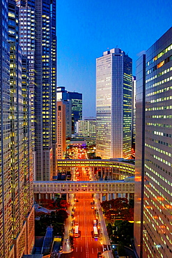 Japan, Tokyo City, Shinjuku District, Shinjuku West Side, Tocho Bldg.