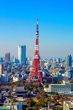 Japan, Tokyo City, Minato Ku, Tokyo Tower.