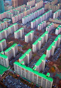 Korea, Seoul City, Yeouido Distric, Apartment Bldgs.