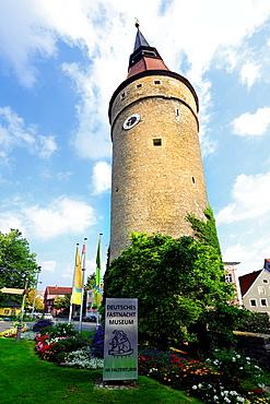 Crooked Tower Deutsches Fastnacht Museum Kitzingen Germany DE Deutschland.
