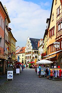 Street with shops Kitzingen Germany Bavaria Deutschland DE Bavaria.