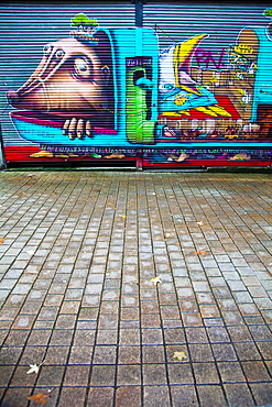 Street art in Nantes, France.