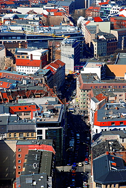 Houses in central Berlin from above