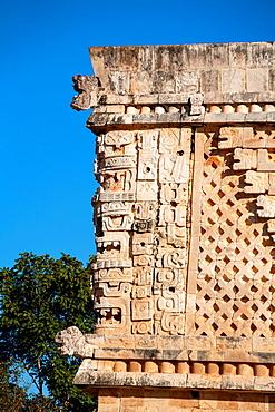 Mexico, Yucatan, Uxmal, Governor's Palace.