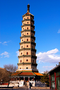China, Hebei Chengde, summer residence of the Manchu Emperors of the early Qing Dynasty, listed as a World Heritage by UNESCO, pagoda