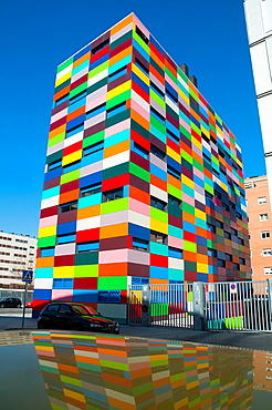 Colorines building  PAU Carabanchel, Madrid, Spain