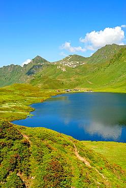 Cadagno lake, Piora valley, Canton Ticino, Switzerland, Europe.