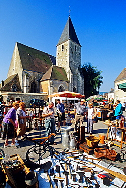 secondhand market at Conde-sur-Huisne, Regional Natural Park of Perche, Orne department, Lower Normandy region, France, Western Europe.