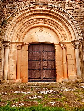 Olcoz church. Navarre. Spain.