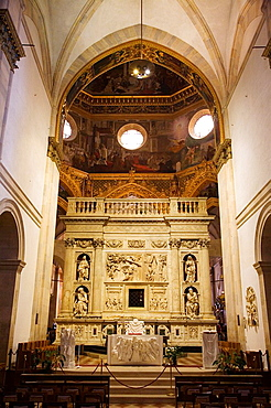 Europe, Italy, Marche, Loreto, Sanctuary Of The Holy House, High Altar And Holy House