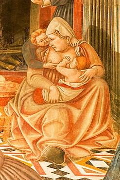 Europe, Italy, Tuscany, Siena, Santa Maria Della Scala, Pellegrinaio, Frescos By Domenico Di Bartolo, A Nurse