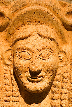 Europe, Italy, Tuscany, Chiusi, Archaeological Museum, Exhibition Of Etruscan Art, Collection Of Pietro Bonci Casuccini, Clay Antefix