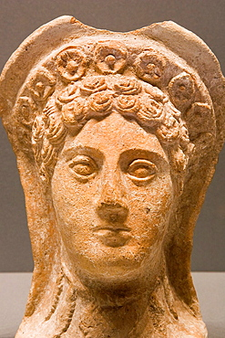 Europe, Italy, Tuscany, Siena, Santa Maria Della Scala, Archaeological Museum, Etruscan Museum, Chigi Zondadari Collection, Votive Head