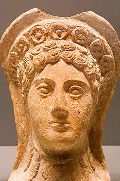 Europe, Italy, Tuscany, Siena, Santa Maria Della Scala, Archaeological Museum, Etruscan Museum, Chigi Zondadari Collection, Votive Head