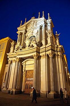 Santa Cristina church Piazza San Carlo square central Turin city Piedmont region northern Italy Europe.