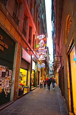 Centro storico the old town Genoa Liguria region Italy Europe.