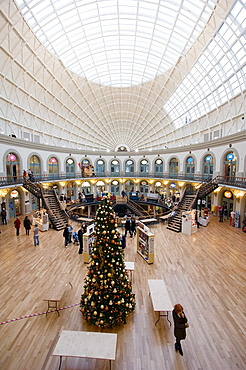 The interior of the Corn Exchange in Leeds England December 12 2007