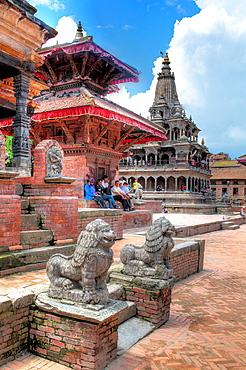 King's Column, Durbar Square, Patan, Lalitpur, Nepal.